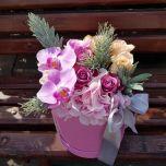 Cutie cu hortensie roz