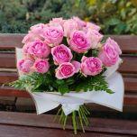 Buchet cu 29 trandafiri roz