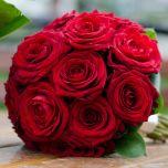 Buchet de mireasa cu trandafiri