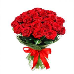 Buchet cu 37 trandafiri rosii