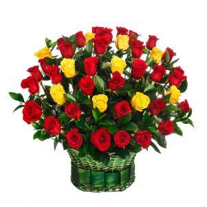 Cos cu 99 trandafiri
