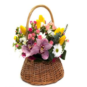 Cos de  flori Primavara